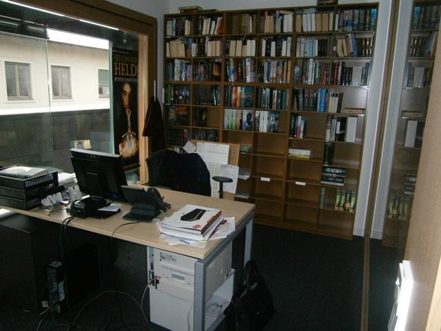 Büro von Piper-Fantasy-Lektorin Mirka Uhrmacher
