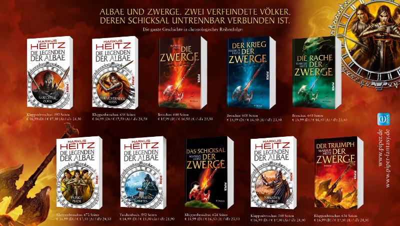 Chronologie der Albae- und Zwerge-Bücher