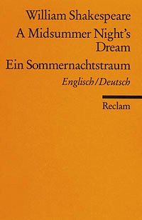 Buch-Cover, William Shakespeare: A Midsummer Night's Dream, Ein Sommernachtstraum