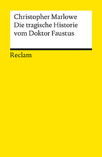 Buch-Cover, Christopher Marlowe: Dr. Faustus