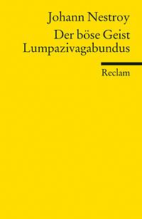 Buch-Cover, Johann Nestroy: Der böse Geist Lumpazivagabundus