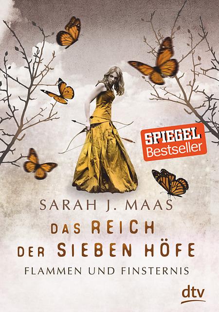 Buch-Cover, Sarah J. Maas: Das Reich der Sieben Höfe: Flammen und Finsternis