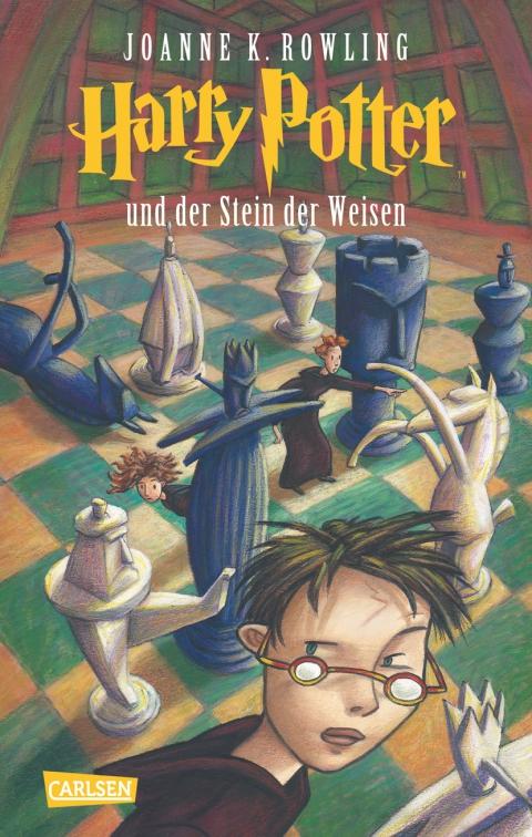 Buch-Cover, Joanne Kathleen Rowling: Harry Potter und der Stein der Weisen