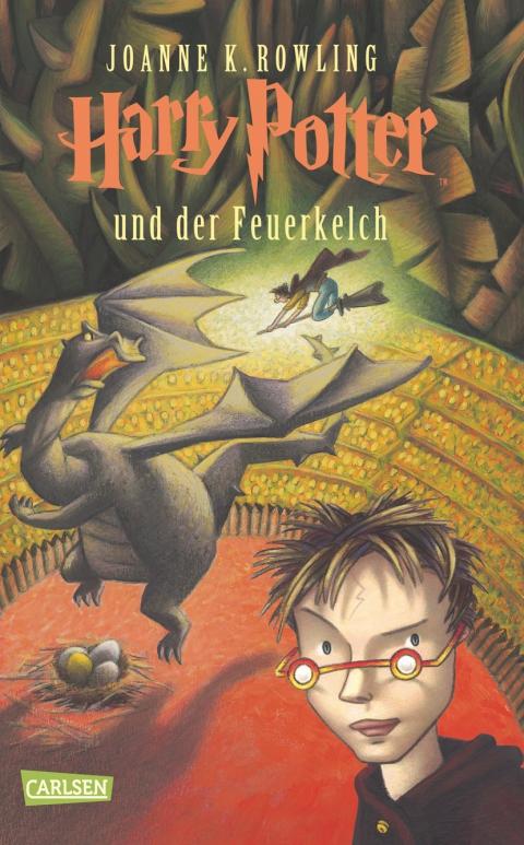 Buch-Cover, Joanne Kathleen Rowling: Harry Potter und der Feuerkelch