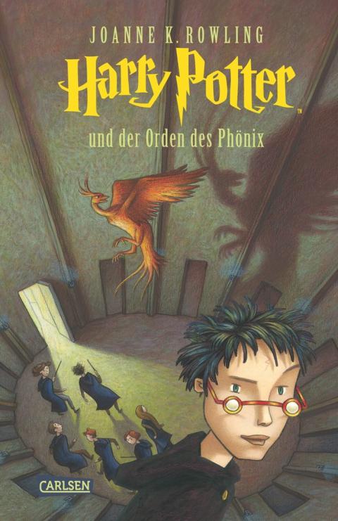 Buch-Cover, Joanne Kathleen Rowling: Harry Potter und der Orden des Phoenix