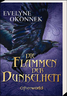 Buch-Cover, Evelyne Okonnek: Die Flammen der Dunkelheit