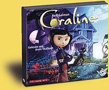 Buch-Cover, Neil Gaiman: Coraline [Hörbuch]