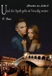 Buch-Cover, D Fries: Und der Spaß geht in Venedig weiter