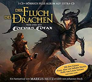 Buch-Cover,  Corvus Corax: Der Fluch des Drachen