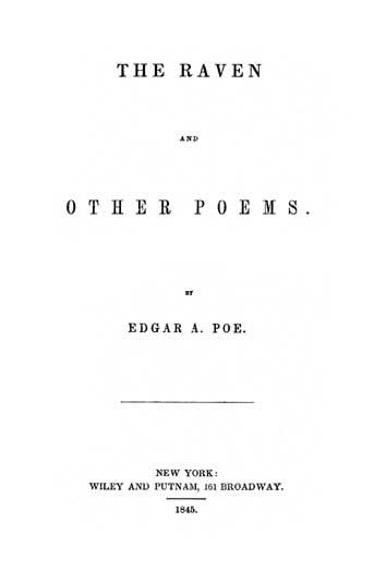 Buch-Cover, Edgar Allan Poe: Der Rabe